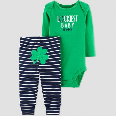Baby Boys' St. Patricks Day Luckiest Baby 2pc Set - Just One You® made by carter's Green Newborn