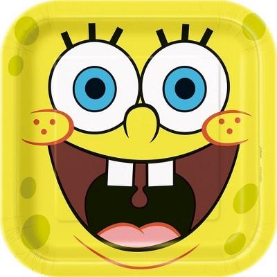 "SpongeBob SquarePants 9"" 8ct Party Plates"