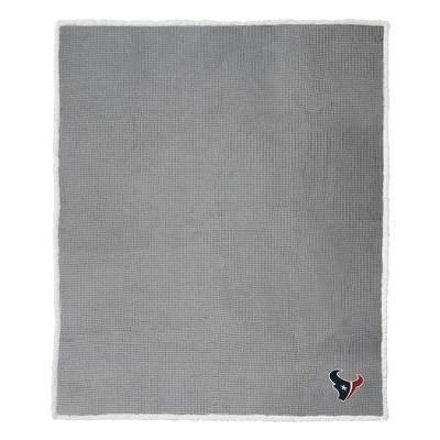 NFL Houston Texans Waffle Sherpa Throw Blanket