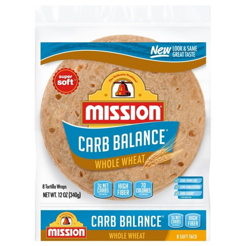 Mission Taco Size Carb Balance Whole Wheat Tortillas - 12oz/8ct - image 1 of 3