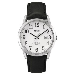 9942b226b $32.50. Men's Timex Easy Reader® Watch with Leather Strap - Silver/Black  TW2P756009J · $42.99