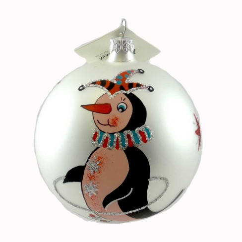 Laved Italian Ornaments Penguin Jester Ball Christmas Stars  -  Tree Ornaments - image 1 of 2