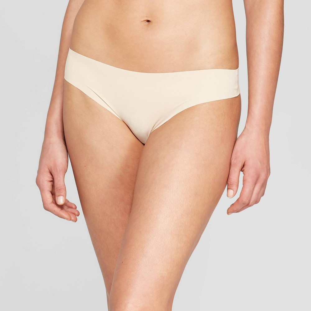 Women's Laser Cut Thong - Auden Soft Beige S