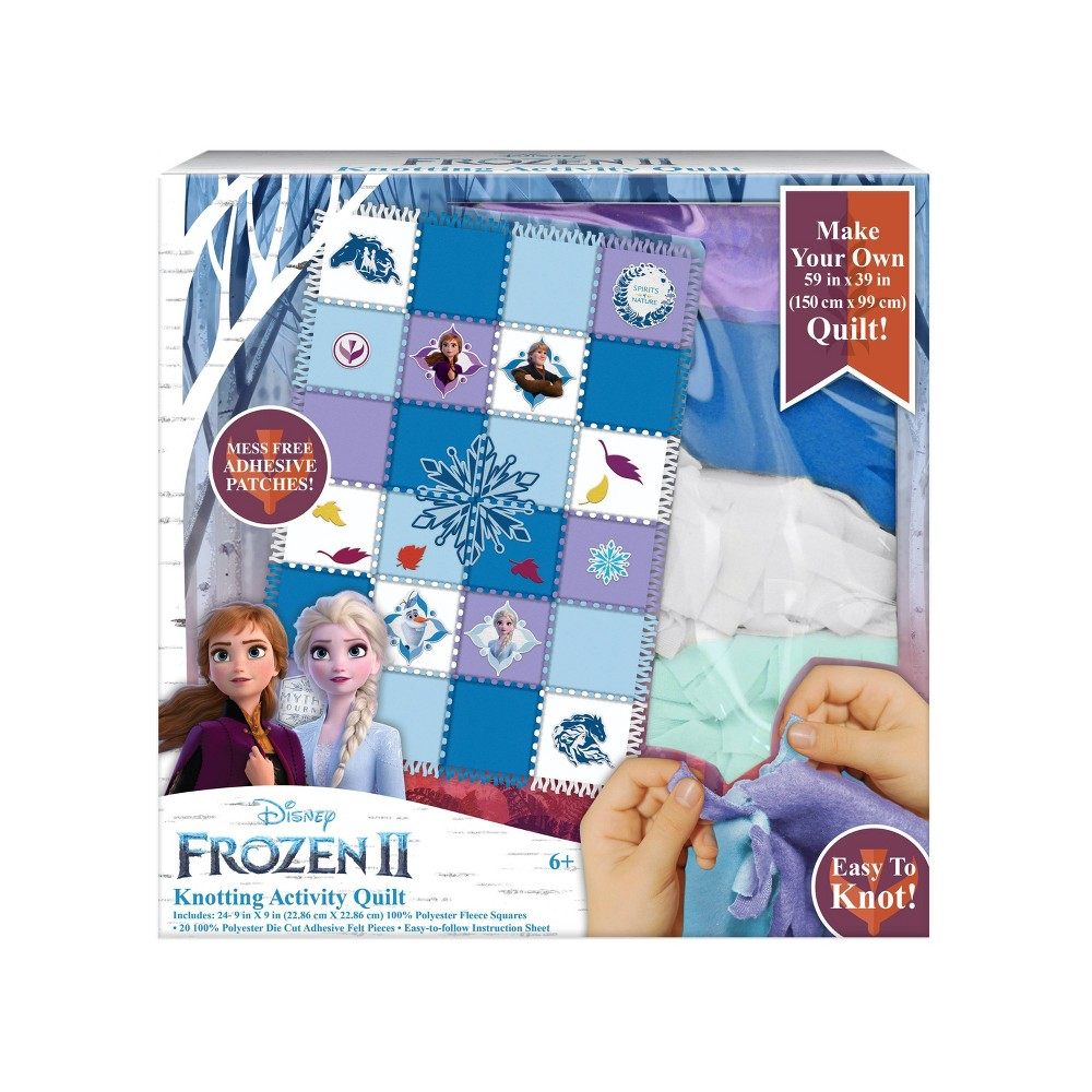 Image of Disney Frozen 2 Knotting Quilt Activity