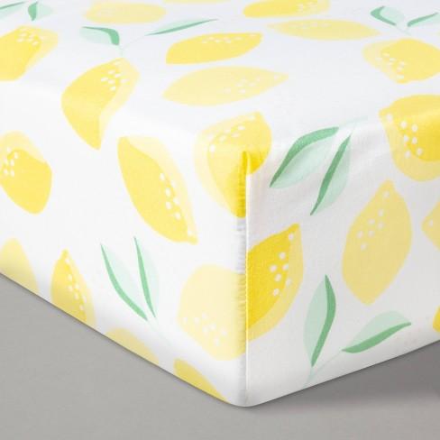 Fitted Crib Sheet Printed Lemons - Cloud Island™ Lemons - image 1 of 2