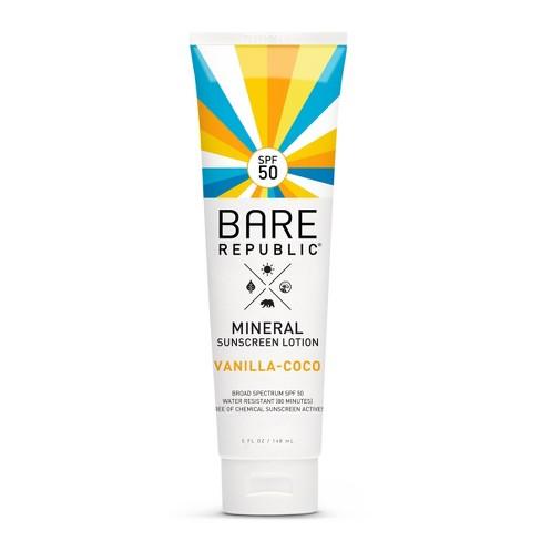 Bare Republic Mineral Sunscreen Vanilla Coco Lotion - SPF 50 - 5.0 fl oz - image 1 of 4