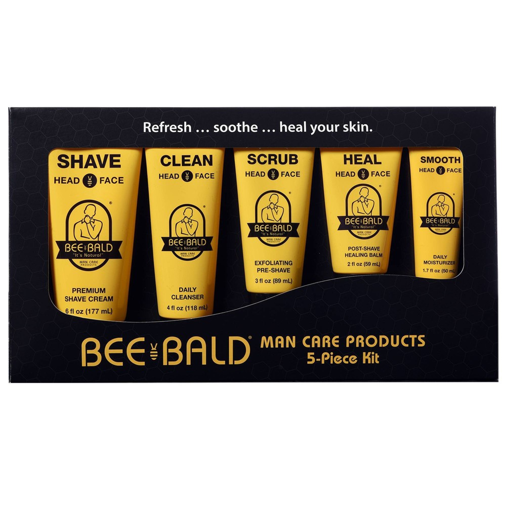 Image of Bee Bald Shaving Travel Kit - 5pc