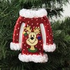 """Holiday Ornament 5.0"""" Ugly Sweater Reindeer Houses Bells  -  Tree Ornaments - image 3 of 3"""