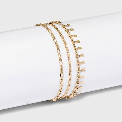 Figaro Chain Bracelet Trio - A New Day™