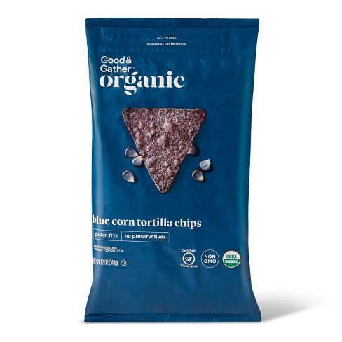 Organic Blue Corn Tortilla Chips - 12oz - Good & Gather™ - image 1 of 3