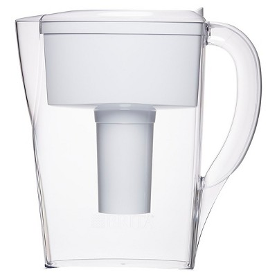 Brita Space Saver 6 Cup Water Pitcher - White