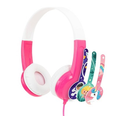 Buddyphones Discover Kids On-Ear Wired Headphones - Pink