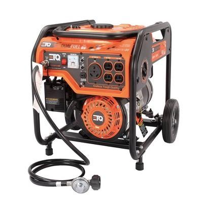 3.6KW Portable Power Generator Dual Fuel Orange - ETQ