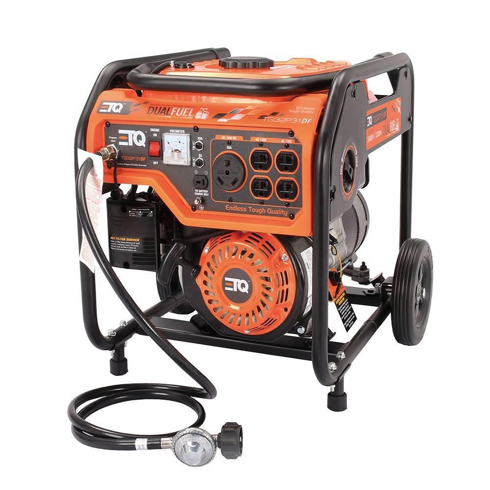 Image of 3.6KW Portable Power Generator Dual Fuel Orange - ETQ