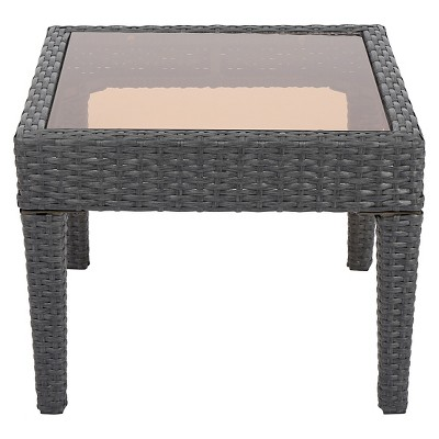 Antibes Wicker Patio Accent Table - Gray - Christopher Knight Home