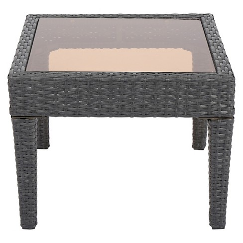 Antibes Square Wicker Patio Accent Table - Christopher Knight Home - image 1 of 4