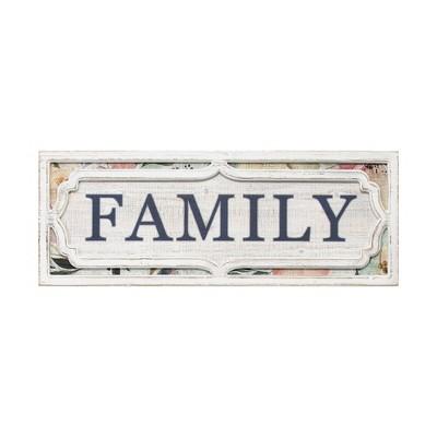Floral Family Wall Decor Blue - Stratton Home Decor