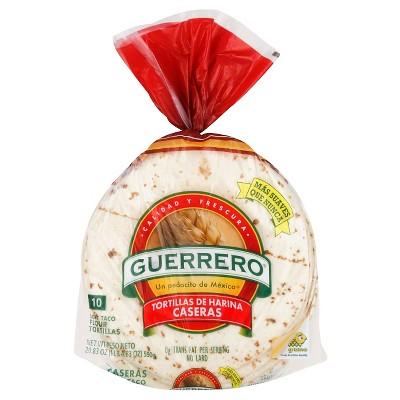 Guerrero Taco Size Flour tortillas - 20.83oz/10ct