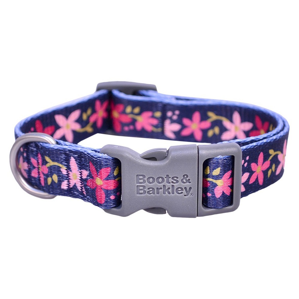 Floral Fashion Dog Collar - XS - Navy (Blue) - Boots & Barkley