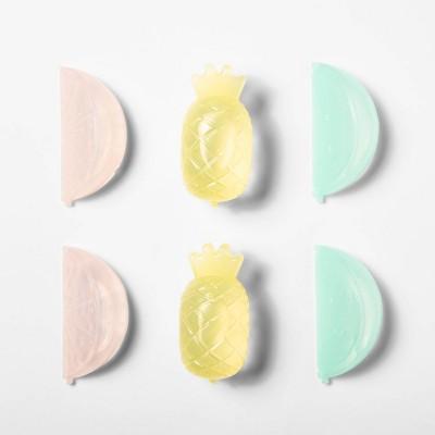 6pk Plastic Fruit Reusable Ice Cubes - Sun Squad™