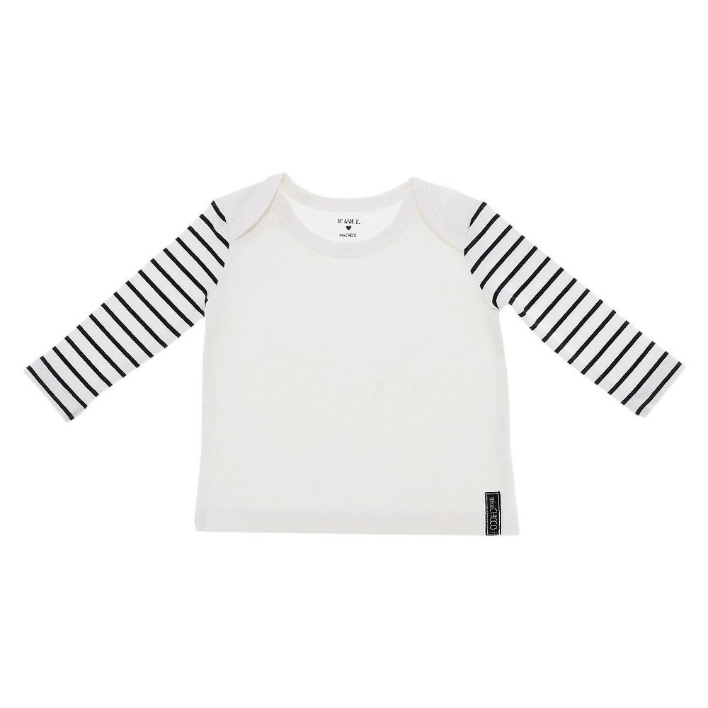 Chicco Baby Long Sleeve Shoulder T-Shirt - White 6-9 M, Infant Unisex, Size: 6-9M