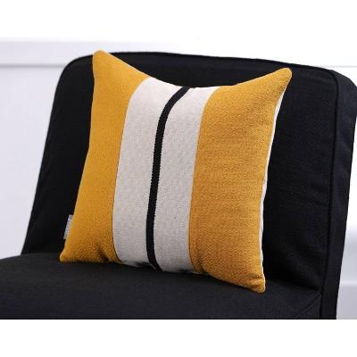 Sullivan Stripe Natural Square Throw Pillow Gold - Pillow Perfect : Target