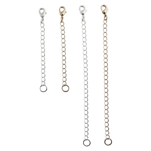 "Necklace 4pc Chain Extenders - 5"" - Silver/Gold - image 1 of 1"