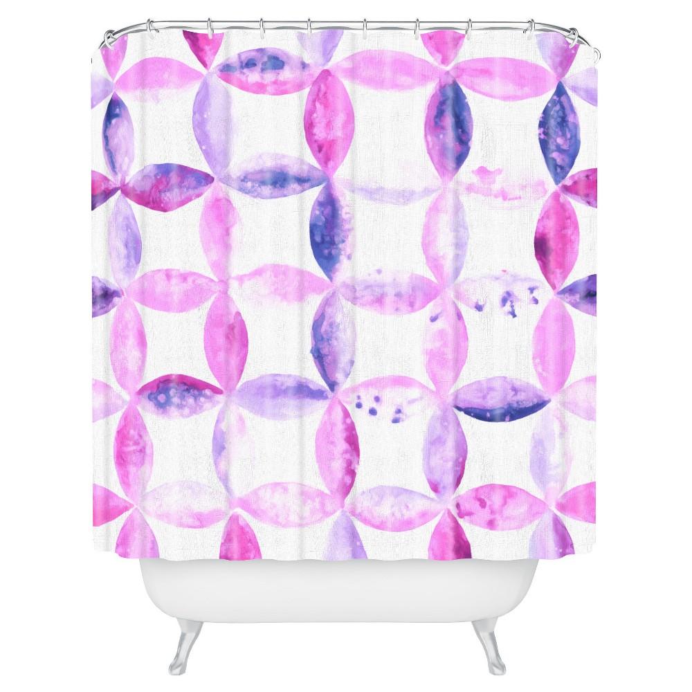 Baroque Haze Shower Curtain Purple - Deny Designs