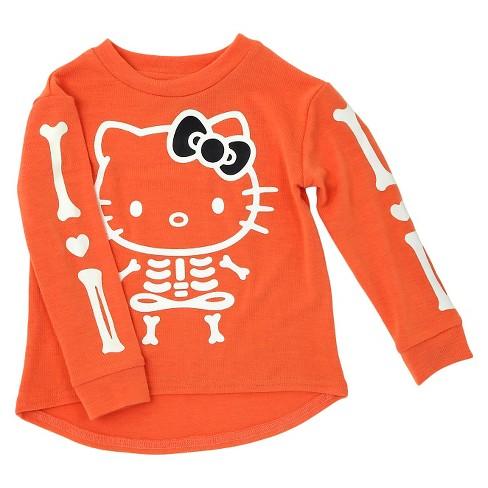 9be231c45 Toddler Girls' Hello Kitty Sweatshirt Orange 4T : Target