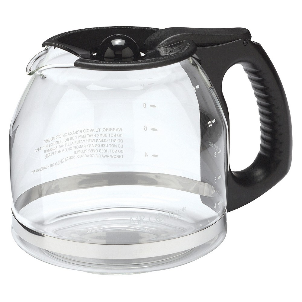 Mr. Coffee 12 Cup Glass Carafe – Black PLD12-RB 10135496