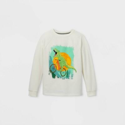 Boys' Cycling Dino Pullover Sweatshirt - Cat & Jack™ Cream