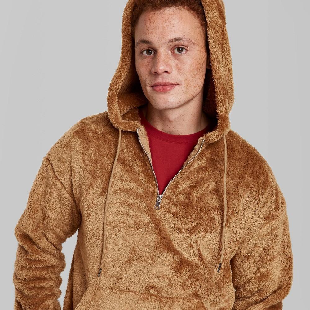 Top Men's Standard Fit Back Quarter Length Zipper Hoodie Sweatshirt - Original Use™