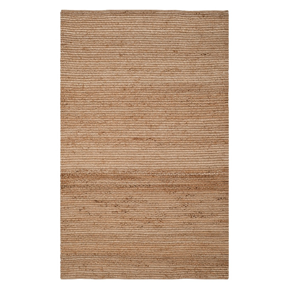 5'X8' Solid Area Rug Natural - Safavieh, White