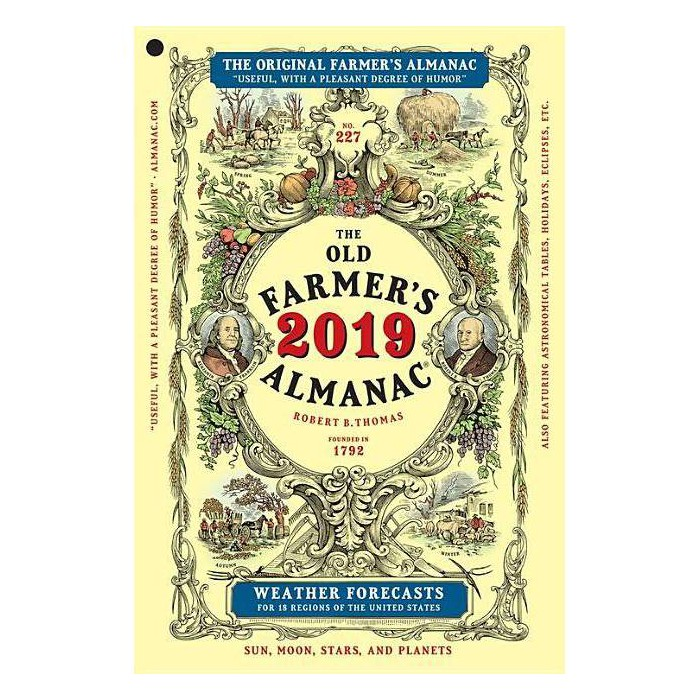 Old Farmer's Almanac 2019 -  (Old Farmer's Almanac) (Paperback) - image 1 of 1