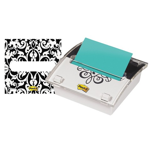 Post-it® Pop-up Notes Pop-up Note Dispenser with Designer Insert, 3 x 3 Pad, Clear Acrylic - image 1 of 1