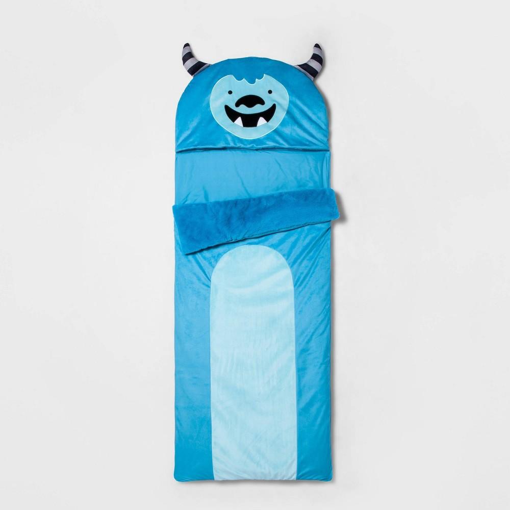 Image of Yeti Character Sleeping Bag Turquoise - Pillowfort , Kids Unisex, Blue