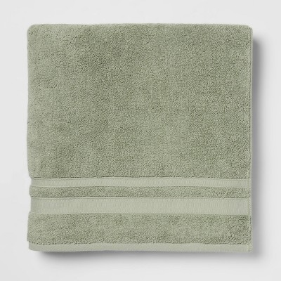 Performance Bath Sheet Dark Sage Green - Threshold™