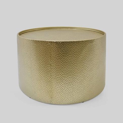 Braeburn Modern Round Coffee Table Gold, Gold Round Coffee Table