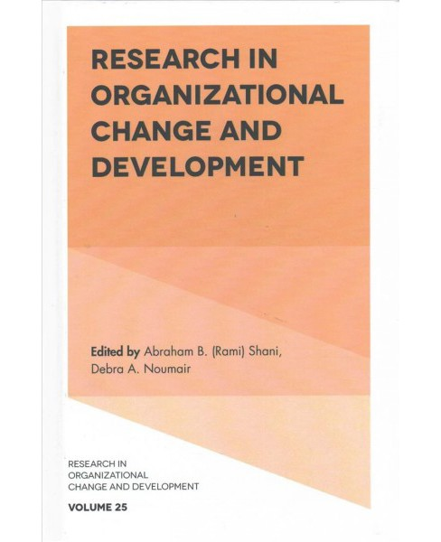 Research in Organizational Change and Development (Hardcover) - image 1 of 1