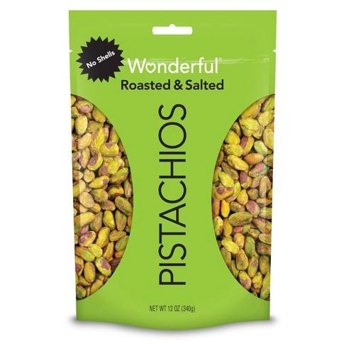 Wonderful Roasted & Salted No Shells Pistachios - 12oz - image 1 of 4