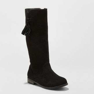 Girls' Helena Fashion Boots - Cat & Jack™ Black 1