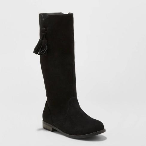 Girls' Helena Fashion Boots - Cat & Jack™ Black - image 1 of 3