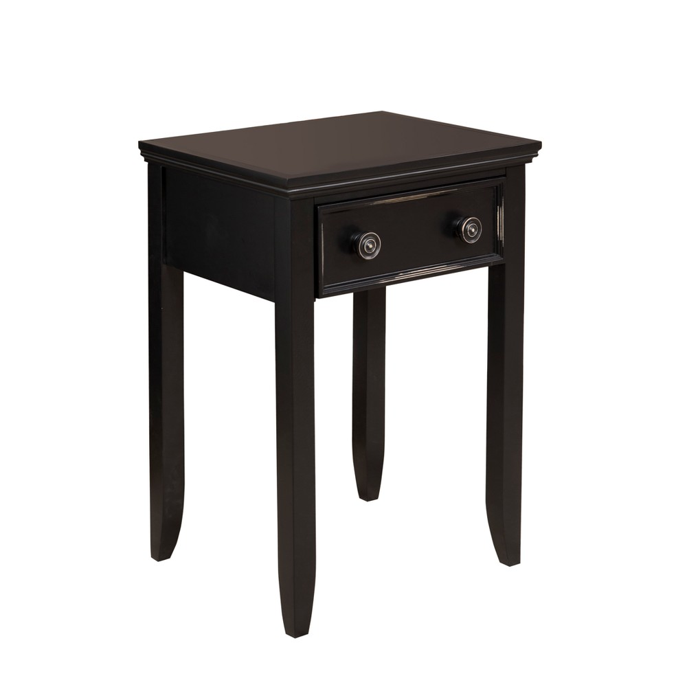 Cape May Collection Tall Nightstand with Drawer - Black - John Boyd Designs