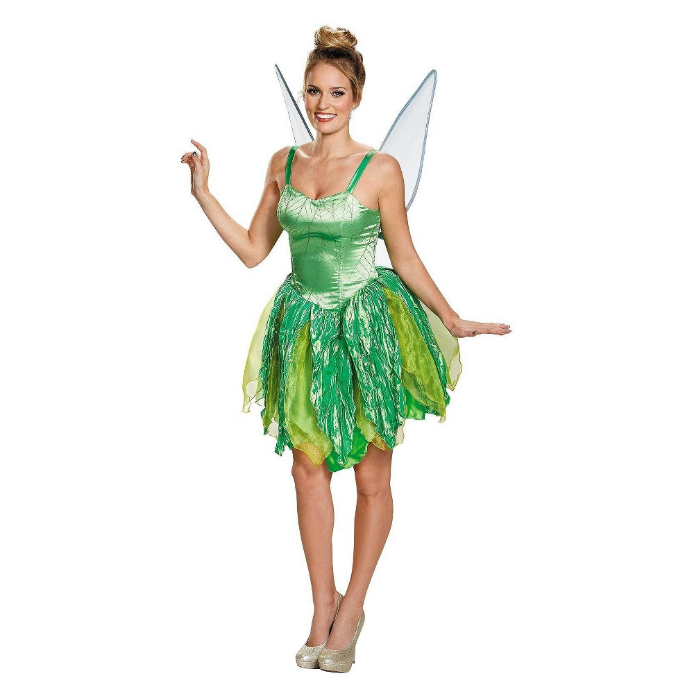 Disney Women's Fairies Tinker Bell Prestige Costume - Large, Green
