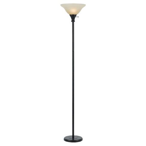 Cal Lighting Metal Torchiere With Gl Shade Lamp Only