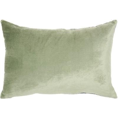 "Mina Victory Luminecence Metallic Ombre Strip Teal Throw Pillow - 14""X20"" : Target"
