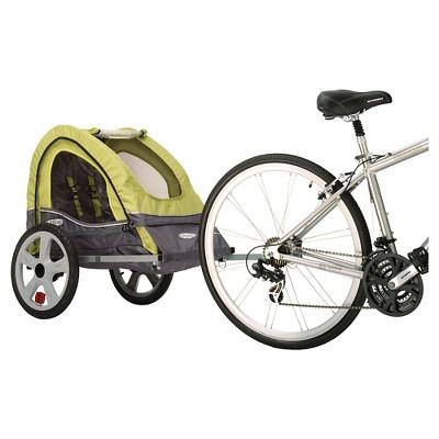 InStep Sync Singleton Bike Trailer - Green & Gray