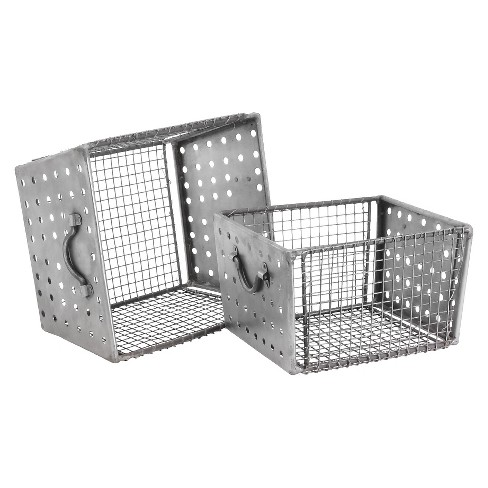 Industrial Wire Bins - Natural Iron (Set of 2) - image 1 of 1