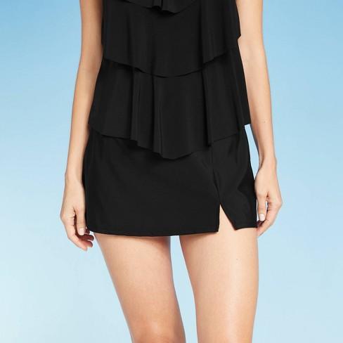 Women's Swim Skirt - Aqua Green® Black - image 1 of 4