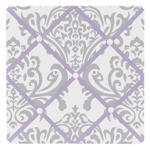 Lavender and Gray Elizabeth Photo Memo Board (13x13)- Sweet Jojo Designs - image 1 of 2